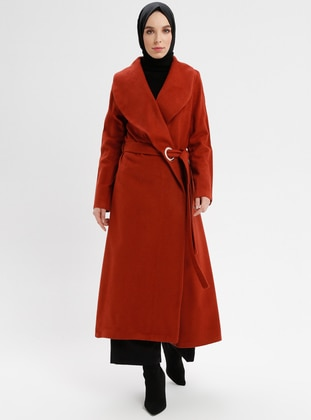 Terra Cotta - Unlined - Shawl Collar - Coat