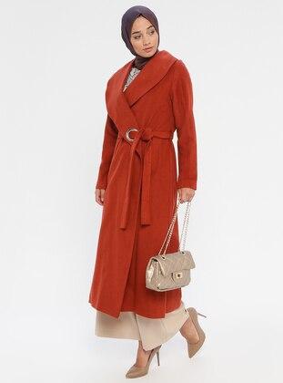Terra Cotta - Unlined - Shawl Collar - Coat