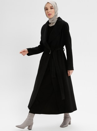Black - Unlined - Shawl Collar - Coat