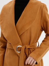 Mustard - Unlined - Shawl Collar - Coat
