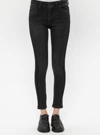 Black - Smoke - Cotton - Denim - Pants