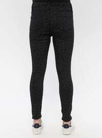 Black - Cotton - Denim - Pants