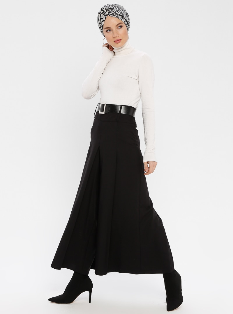 52 female Siyah Pantolon Etek BÜRÜN