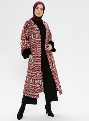 Maroon - Multi - Unlined -  - Poncho