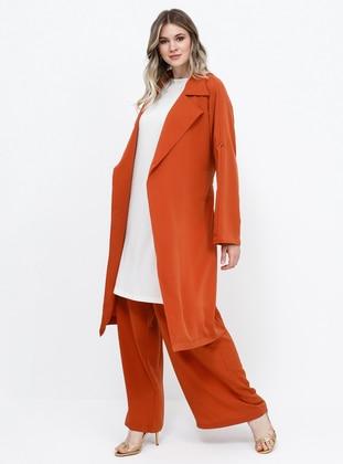 - Unlined - Shawl Collar - Plus Size Coat