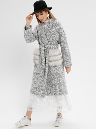 Gray - Fully Lined - Coat
