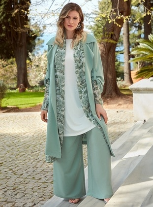 Green - Plus Size Pants
