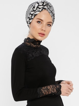 Black - Polo neck - Blouses - MODAGÜL