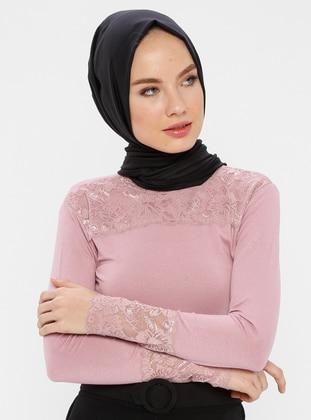 Minc - Polo neck - Blouses - MODAGÜL