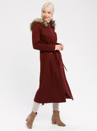 Maroon - Fully Lined - Coat