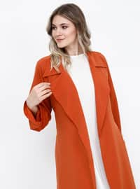 - Unlined - Shawl Collar - Plus Size Coat