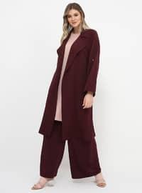 Purple - Plus Size Pants