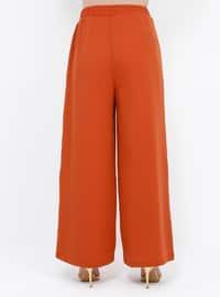 Orange - Plus Size Pants