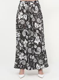 Multi - Floral - Plus Size Pants