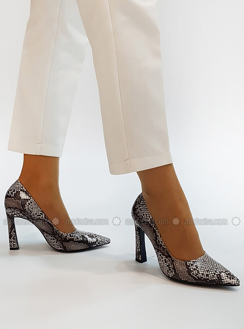 Beige - High Heel - Casual - Evening Shoes