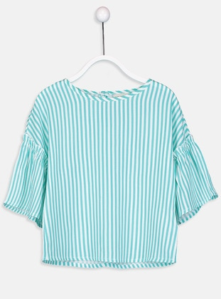 Green - Stripe - Age 8-12 Blouse - LC WAIKIKI