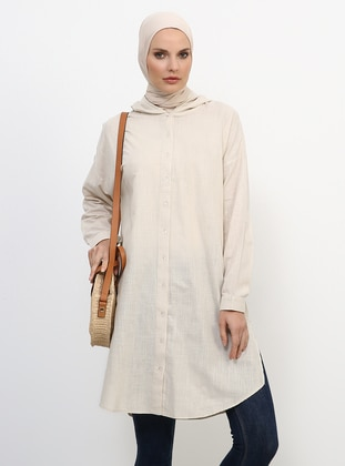 Cream - Cotton - Tunic