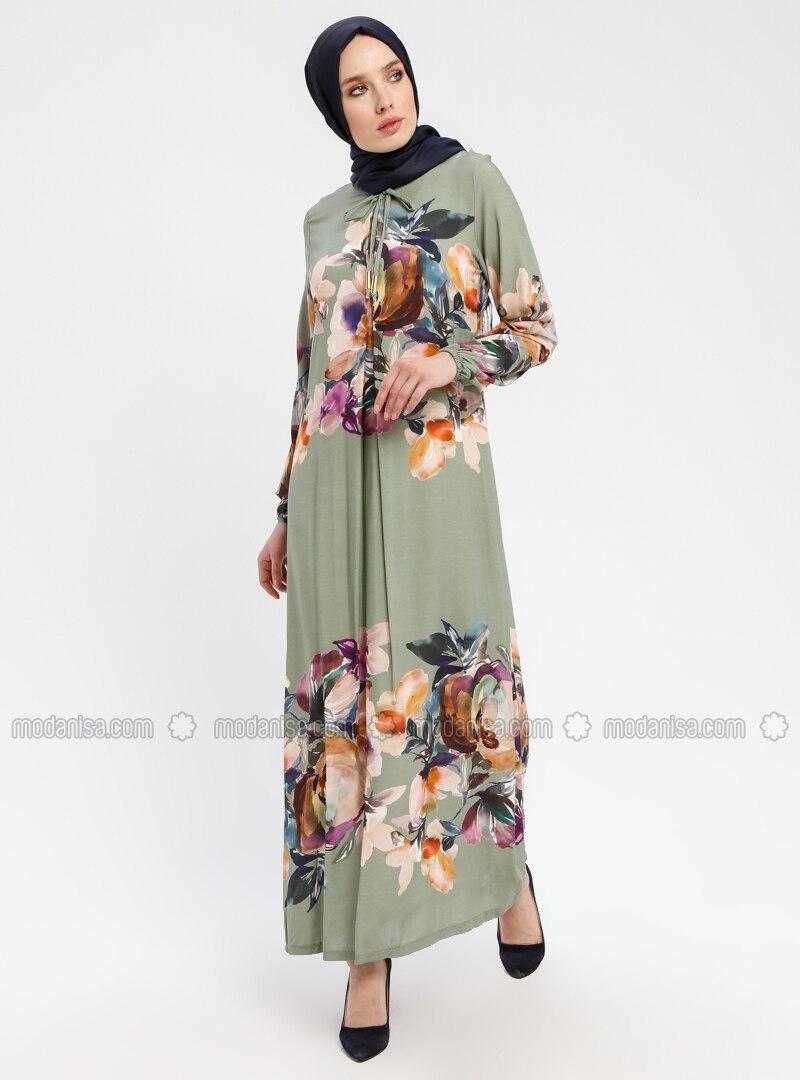 d68d1c499c5 Mint - Multi - Crew neck - Unlined - Viscose - Dresses