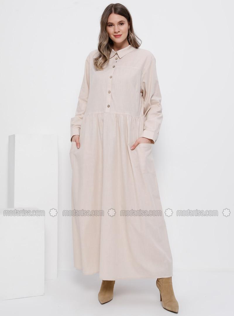 Minc - Unlined - Point Collar - Cotton - Plus Size Dress