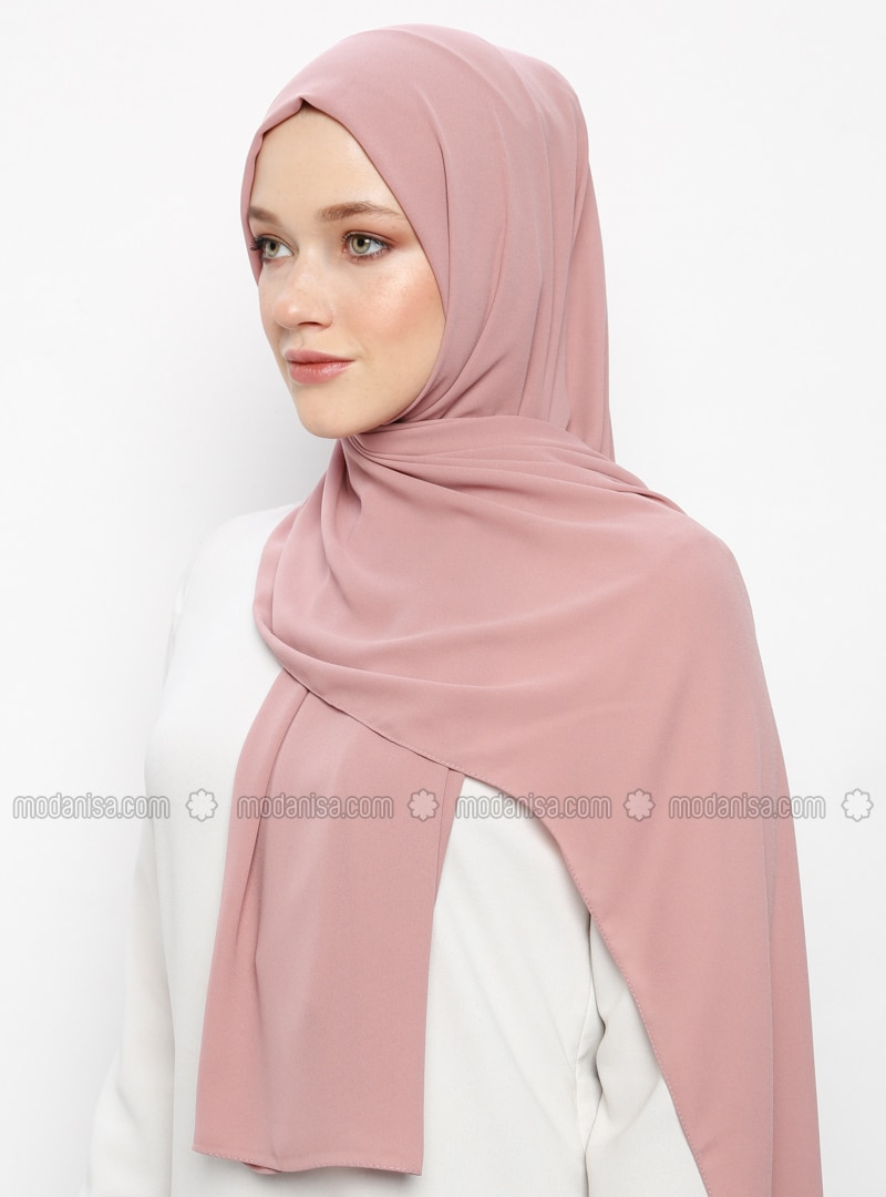 Powder - Plain - Crepe - Shawl