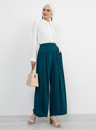 Green - Emerald - Viscose - Culottes