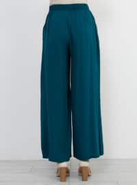 Green - Emerald - Viscose - Culottes