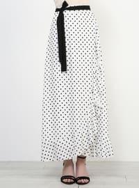 Black - Polka Dot - Fully Lined - Skirt