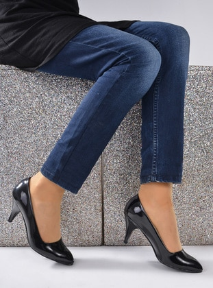 Black - High Heel - Shoes