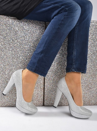 Silver tone - High Heel - Shoes