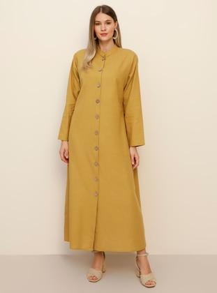 - Unlined - Crew neck - Cotton - Plus Size Coat