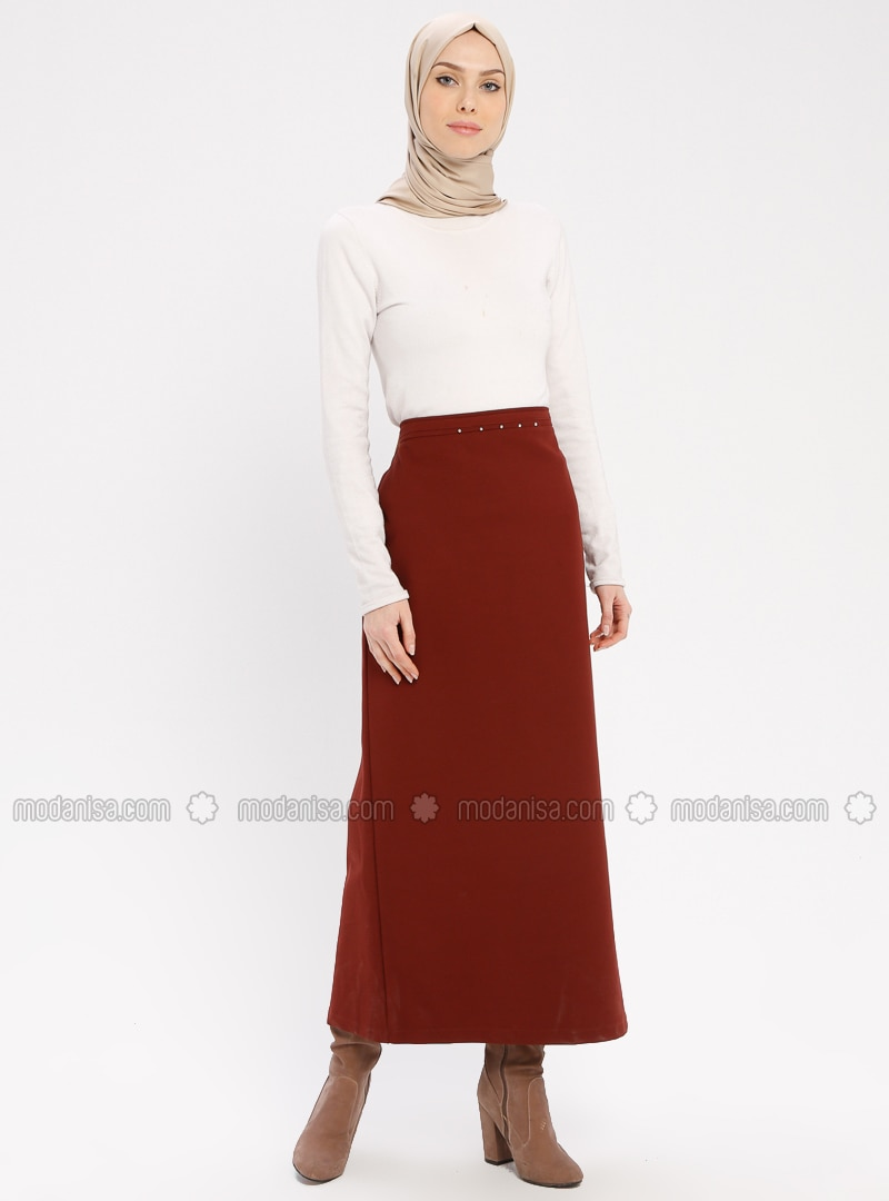 Terra Cotta - Fully Lined - Skirt