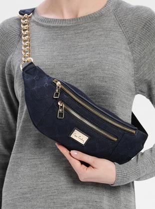 Navy Blue - Satchel - Bum Bag - Pierre Cardin