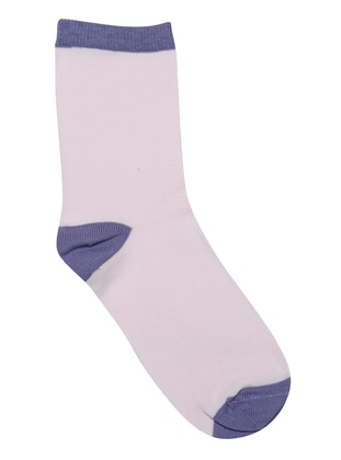 Purple - Powder - Cotton - Socks