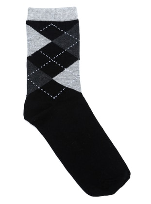 Black - Cotton - Socks