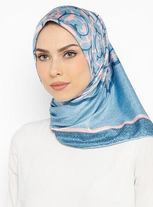 Baby Blue - Printed - Scarf - Renkli Butik