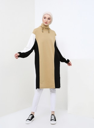 Multi - Polo neck - Cotton - Tunic