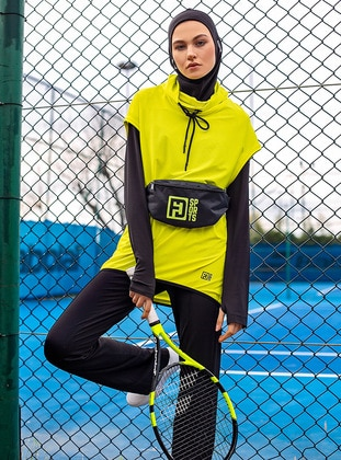 Yellow - Polo neck - Tracksuit Top