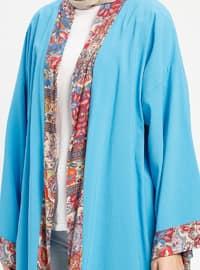Turquoise - Ethnic - Unlined - Cotton - Abaya