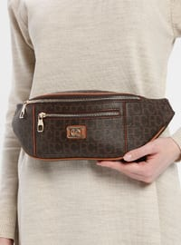 Brown - Satchel - Bum Bag - Pierre Cardin