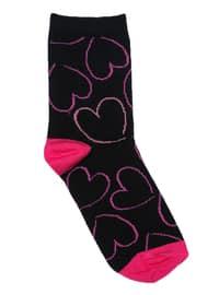Black - Cotton - Socks