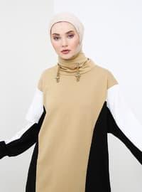 Multi - Polo neck - Cotton - Tunic