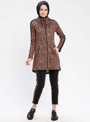 Brown - Leopard - Tracksuit Set