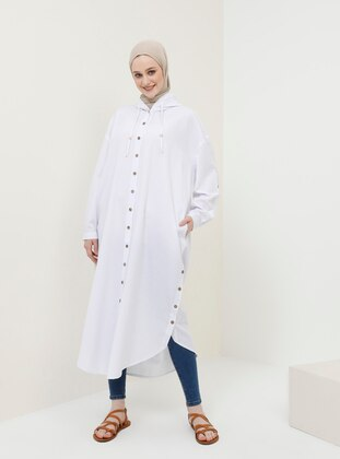 White - Ecru - Cotton - Tunic