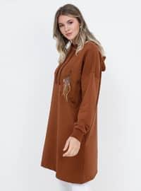 Tan - Cotton - Plus Size Tunic
