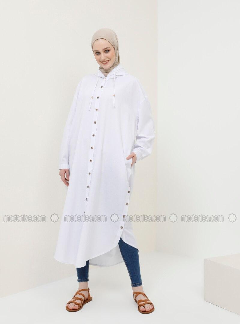 White - Ecru - Cotton - Tunic
