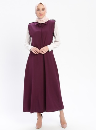 Purple - Unlined - Point Collar - Vest