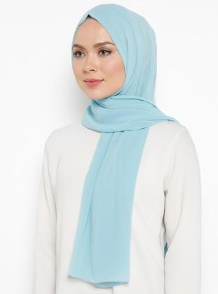 Turquoise - Plain - Shawl