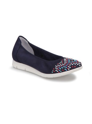 Navy Blue - Flat Shoes