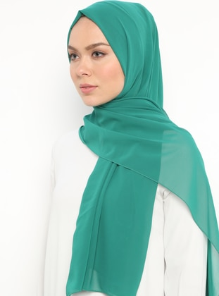 Emerald - Plain - Chiffon - Shawl