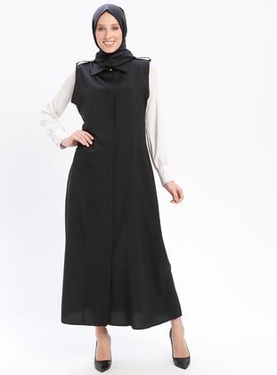 Black - Unlined - Point Collar - Vest